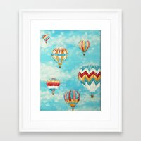 hot air balloons Framed Art Prints featuring Hot Air Balloons 1 by Music of the Heart