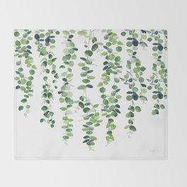Eucalyptus Garland  Throw Blanket