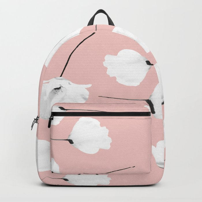 Floral pattern Poppies on blush Backpack