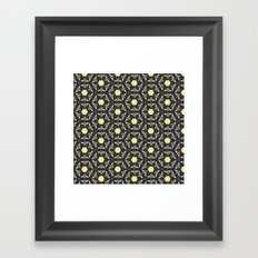 Beneficial Bumblebees and Hexagonal Honeycombs Framed Art Print