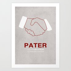 Pater - MINIMALIST POSTER Art Print