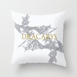 D R A C A R Y S - Gold Throw Pillow