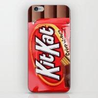 kit king iPhone & iPod Skins featuring Kit Kat by niklasedlund