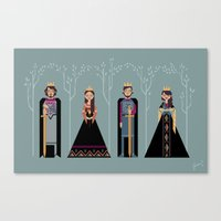 narnia Canvas Prints featuring Kings & Queens of Narnia by Jasmine Lee