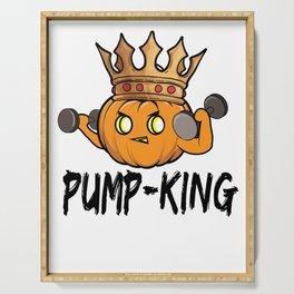Halloween pumpkin bodybuilder Pumper King Gift Serving Tray