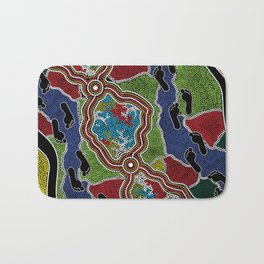 Aboriginal Art Authentic - Walking the Land Bath Mat