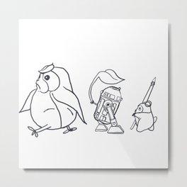 Star Ghibli Wars: Mashup Drawing Metal Print
