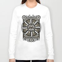 all seeing eye Long Sleeve T-shirts featuring All Seeing Eye by Pancho the Macho