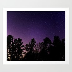 Stars view from the forest Art Print
