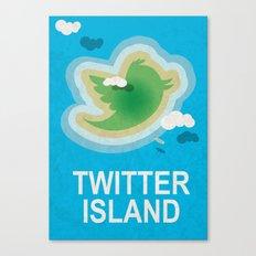 Twitter Island Canvas Print