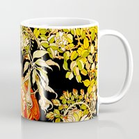 mucha Mugs featuring Marguerite's Bower, Mucha by Vintage Era Art