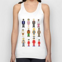 the royal tenenbaums Tank Tops featuring The Royal Pixelbaums by Isabel
