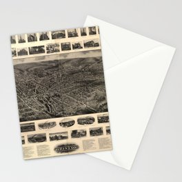 Bird's Eye View of Bristol, Connecticut (1907) Stationery Cards