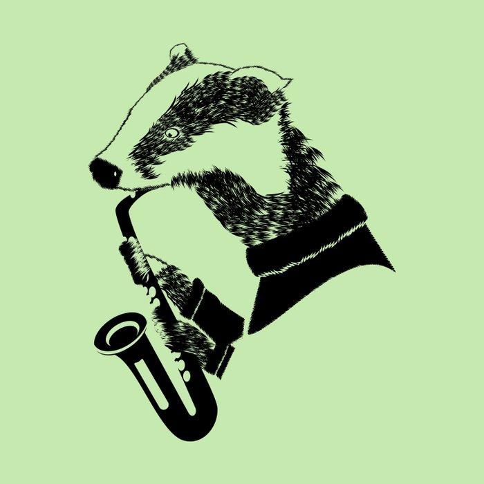 Badger Saxophone Duvet Cover