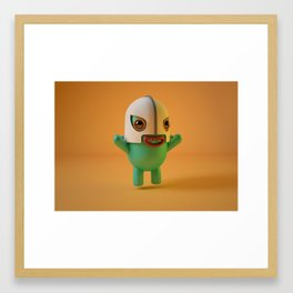 El santo fan Framed Art Print