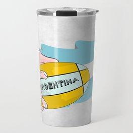 Argentina Rugby Travel Mug