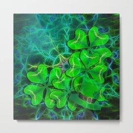 clover and kaleidoscope Metal Print