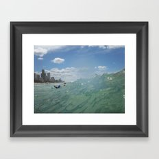 Surfer's Paradise Framed Art Print