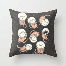 Cat-Stronauts Throw Pillow