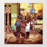 melbourne Canvas Prints featuring Melbourne by Laura Elliott