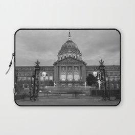 San Francisco City Hall BW Laptop Sleeve