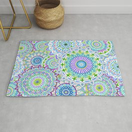 Mandala Maze Purple Rug
