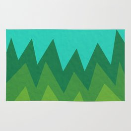 Green Summer Forest Rug