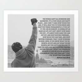 Rocky Balboa, Rocky poster, Rocky, Boxing, boxing speech, Inspirational Wall art, rocky balboa quote Art Print