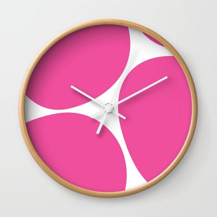 Big Dots Pink Wall Clock