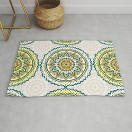 Vintage mandala pattern Rug