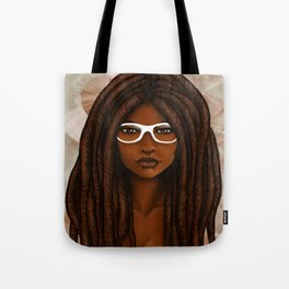 White Glasses Tote Bag