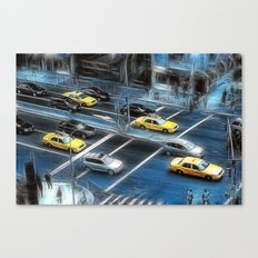 Blue Monday Manhattan Canvas Print
