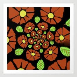 The Red Flower Polka Art Print