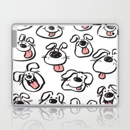 Happy Dog Faces Laptop & iPad Skin