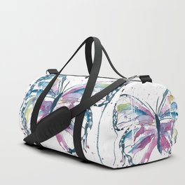 Vibrant Butterfly Duffle Bag