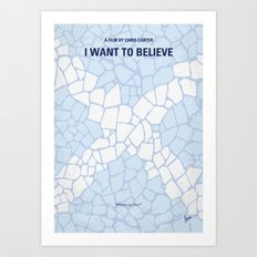No792 My I Want to Believe minimal movie poster Art Print
