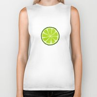 lime Biker Tanks featuring Lime by Linde Townsend