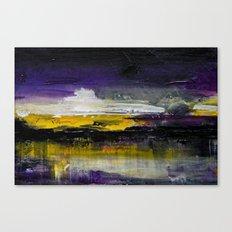 Purple Abstract Landscape Canvas Print