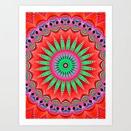 Drama Mandala Art Print