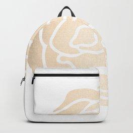 Rose White Gold Sands on White Backpack