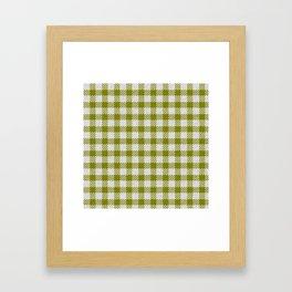 Olive Buffalo Plaid Framed Art Print