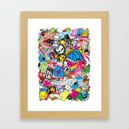 Stickerbomb Framed Art Print