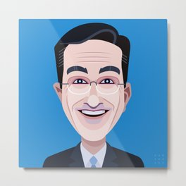 Comics of Comedy: Stephen Colbert Metal Print