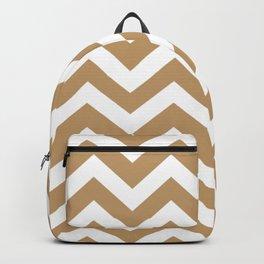 Fallow - brown - Zigzag Chevron Pattern Backpack