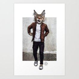 The Dave I Know, Cool Cat Art Print