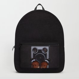 Vintage Camera with Orange Butterfly Backpack