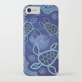 Aboriginal Art Authentic - Sea Turtles iPhone Case