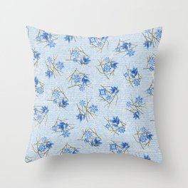 Branches & Snow crystals Throw Pillow