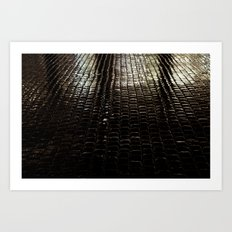 cobbled rain I. Art Print