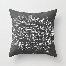 The New Creation- 2 Corinthians 5:17 Throw Pillow